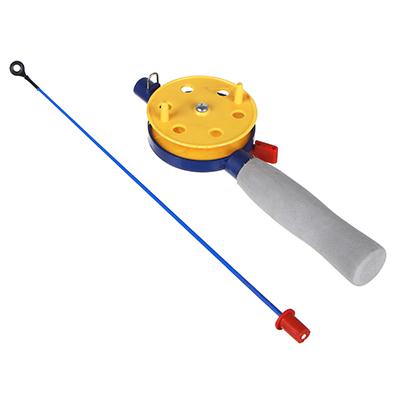 344-012 AZOR Удочка для зимней рыбалки 35 см, с катушкой, файбергласс