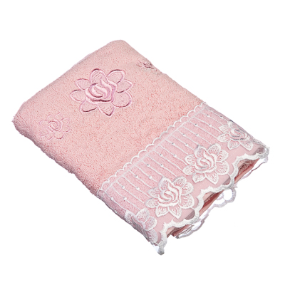 484-359 VETTA Полотенце банное, 100% хлопок Барокко 50x90см, розовое