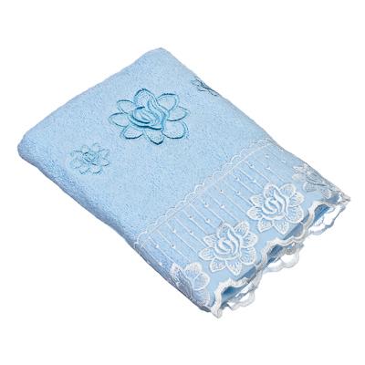 484-360 VETTA Полотенце банное, 100% хлопок Барокко 50x90см, голубое