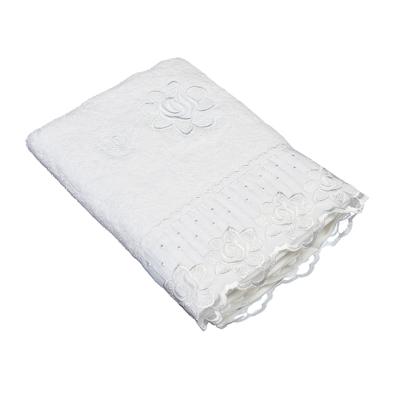 484-361 VETTA Полотенце банное, 100% хлопок Барокко 50x90см, белое