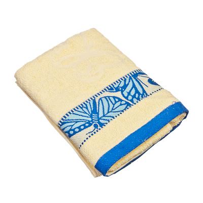 484-368 VETTA Полотенце банное, 100% хлопок Батерфляй 50x90см, голубое