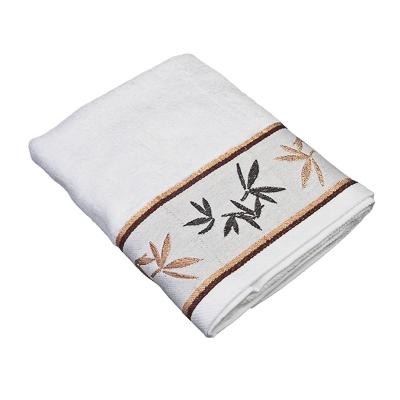 484-379 VETTA Полотенце банное, бамбук, 50x90см, Джангл белое