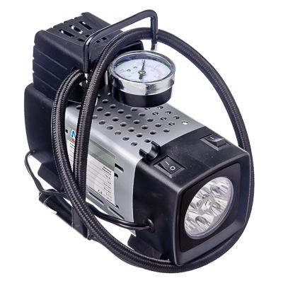 713-017 NEW GALAXY Компрессор с LED фонарем, пит. от прикуривателя, 03.65.012, 160Вт,10кг/см2,35л/мин