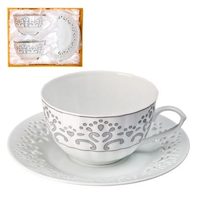 821-092 Кружева Набор чайный 4 пр., 250мл, тнк.фрф. подар.упак.