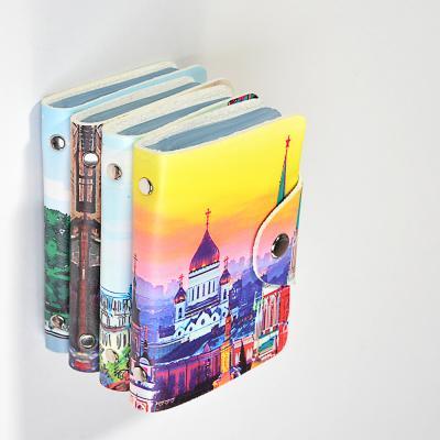 333-026 PAVO Визитница 26 карт, ПВХ, 7х10х2см, 4 дизайна