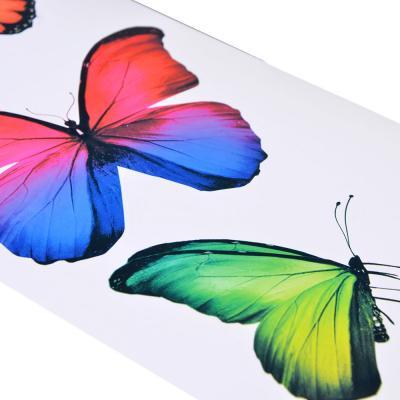 "503-184 LADECOR Наклейки ""Красота бабочек"", 40х13см, ПВХ, бумага, 4 дизайна"