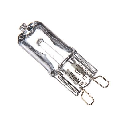 935-009 FORZA Лампа галогенная с прозрачным стеклом, цоколь G9, 220В, 40Вт, 2800K, ресурс 2 000ч., D13 мм
