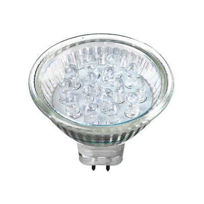 935-017 FORZA Лампа светодиодная цоколь GU5.3, 15LED,  0.6-1Вт, син. свеч.   12В, ресурс 30000 ч.