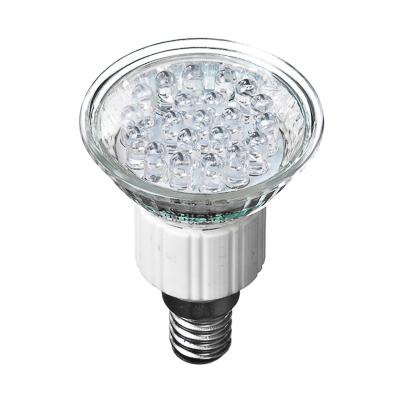 935-019 FORZA Лампа светодиодная цоколь Е14, 21LED,  1-1.5Вт, син. свеч. 220В, ресурс 30000 ч.