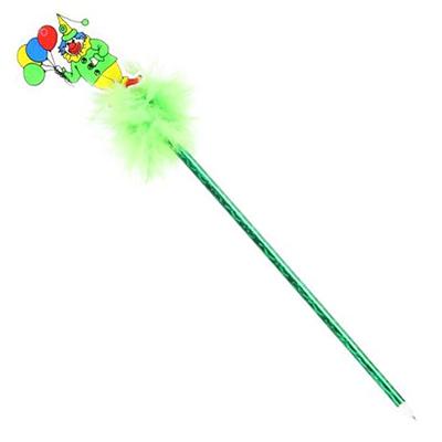 """513-337 Ручка шариковая """"Веселое ассорти"""", с мягким украшением, в блеске, ПВХ, 26см"""