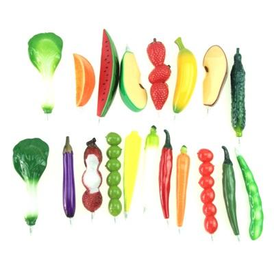 """513-348 Ручка-магнит """"Овощи и фрукты"""", 10-13см, 18 дизайнов"""