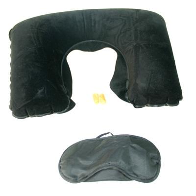 343-058 Набор дорожный (повязка для сна, беруши, подушка) ПВХ