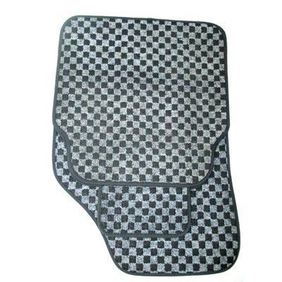 768-233 Набор ковриков ворсовых 5 пр., полипропилен, 70x49см + 40x45см, черные