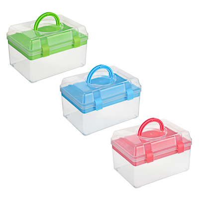 444-190 Бокс для мелочей, пластик, 17х11,5х11,5см, 3 цвета