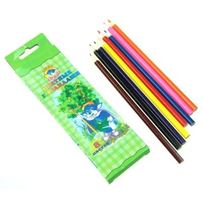 102-092 Набор цветных карандашей, 8 цветов, 20х6см, дерево
