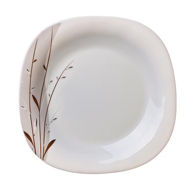 818-634 VETTA Тирелл Тарелка десертная опаловое стекло квадратная 215мм FFP85/6