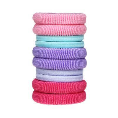 322-004 Резинки для волос BERIOTTI, 10 шт в тубе, d.4 см, полиэстер, 6 цветов