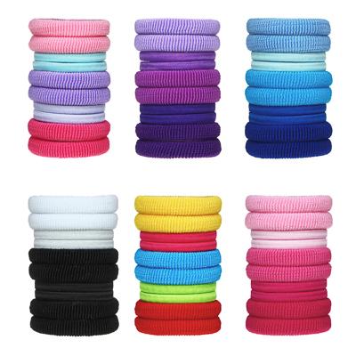 322-004 Набор резинок для волос в тубе 10шт., полиэстер, 4 см, 6 цветов