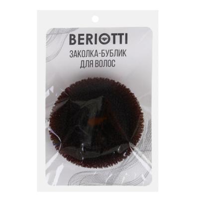 321-029 Заколка-бублик для волос, мягкий поролон с липучками, 8 см, 3 цвета