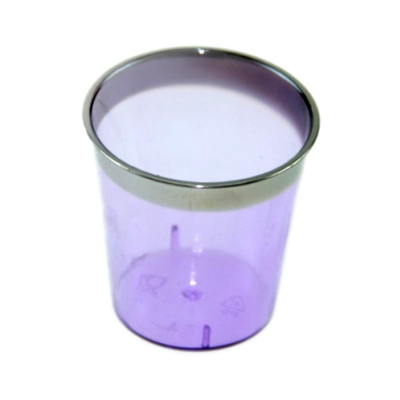 892-134 Набор пластиковых стопок с метал. каймой фиолетовые 30 шт