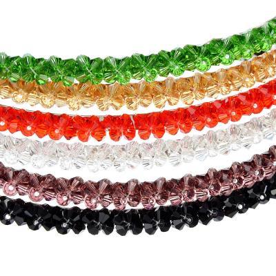 "323-031 Ободок для волос, пластик, металл, 0,5 см, 6 цветов, ""Кристаллы"""