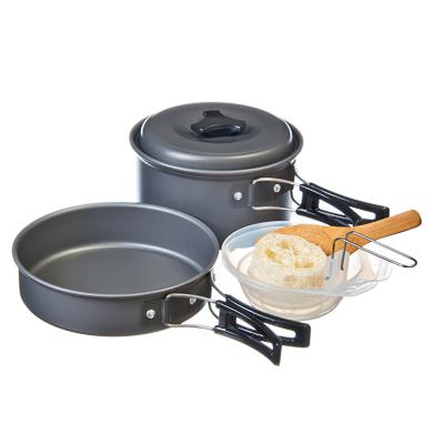 333-222 ЧИНГИСХАН Набор посуды 7 пр «Турист-2» (для 2-х персон) в чехле, алюминий, пластик, BL422