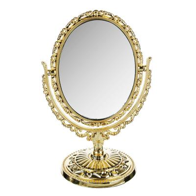 301-049 Зеркало настольное овальное, 20х12,5 см, пластик, стекло, 3-4 цвета