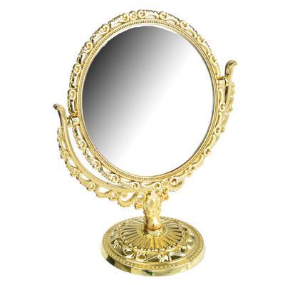 301-050 Зеркало настольное овальное, 22х17,5 см, пластик, стекло, 2 цвета