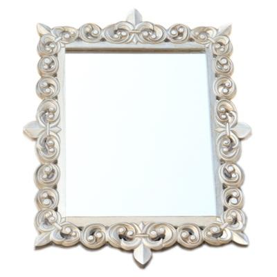 491-168 Зеркало настенное 63х47см, в багете ХДФ под серебро Р001