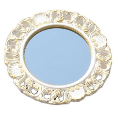 491-171 Зеркало настенное 47х47см, в багете ХДФ под золото Р002