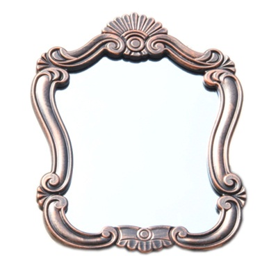 491-173 Зеркало настенное 52х38см, в багете ХДФ под медь Р003