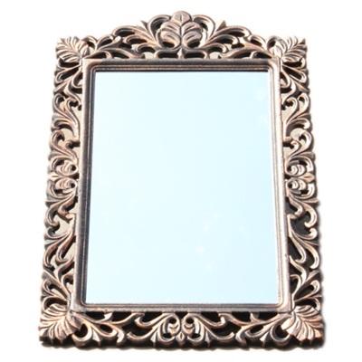 491-179 Зеркало настенное 83х55см, в багете ХДФ под медь Р007