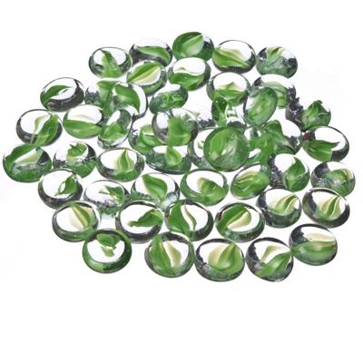 502-246 Камни декоративные 200гр, стекло, круглые, 4 цвета