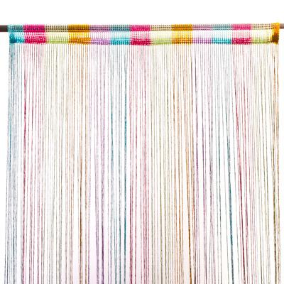 491-187 Занавеска нитяная 1x2м, с блестками, цветная