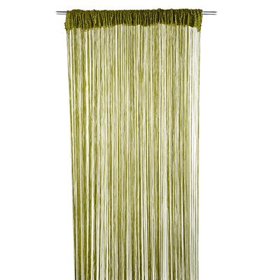 491-195 Занавеска нитяная межкомнатная однотонная, полиэстер, 3х2,8м, 5 цветов