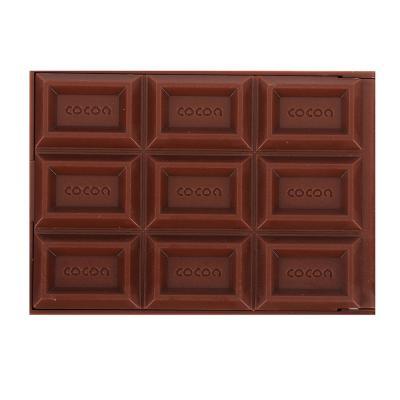 """301-080 Карманное зеркало складное с расческой, 11,5х6х1 см, пластик, 2-3 цвета, """"Шоколад"""""""