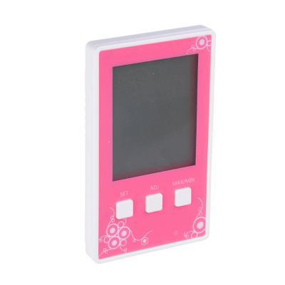 473-007 Термометр электронный с часами, 10x6см, пластик, KX-941