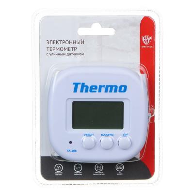 473-041 INBLOOM Термометр электронный 2 режима, с уличным датчиком, пластик, 7,5x7,6см, TA-268A