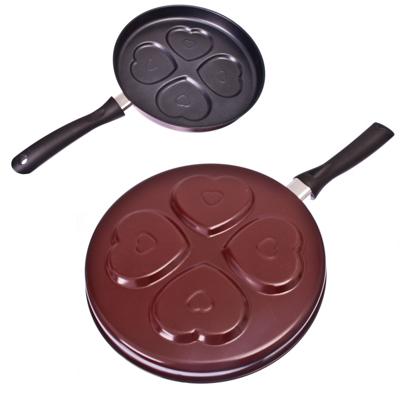 846-215 Сковорода с антипригарным покрытием для оладий, угл сталь d27x3,5см, 2 дизайна