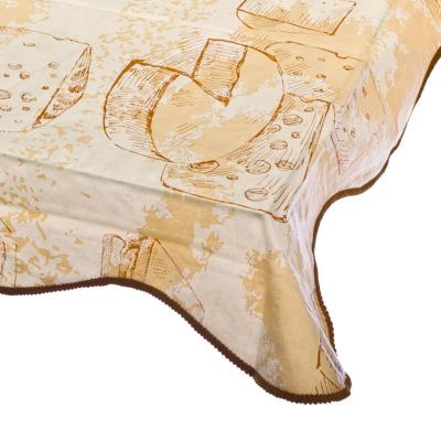 479-085 VETTA Скатерть виниловая на фланелевой основе с каймой, 137x137см, Cheese Арт 0306-1, Дизайн GC