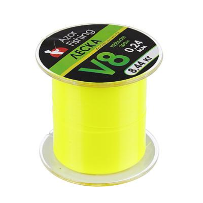 338-925 AZOR FISHING Леска, нейлон, V8, 0,24 мм, 300м, флуорисцент-желтая, разрывная нагрузка 8,44 кг