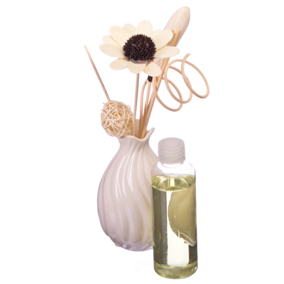 536-174 Ваза для благовоний + ароматическое масло 100 мл микс, G003A
