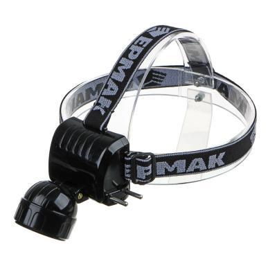 328-046 ЧИНГИСХАН Фонарь налобный аккумуляторный 5 ярк. LED, вилка 220В, 8х6х7,5см