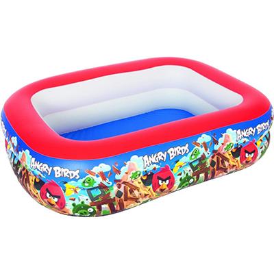 332-012 BESTWAY Бассейн детский надувной, 201x150x51см, 450л, Angry Birds, 96109B