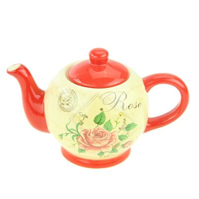 824-768 Ретро Роза Чайник 11х16см, керамика