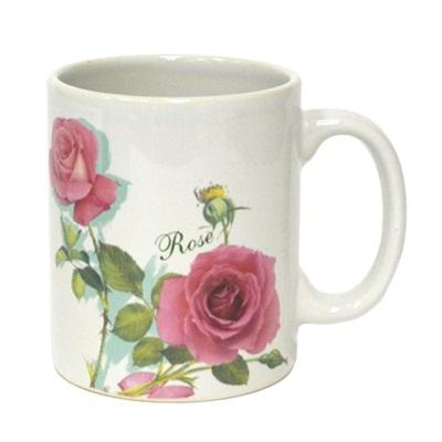 """806-644 Кружка 260мл, керамика, 10,7х8,5/6см, """"Розы"""", микс"""