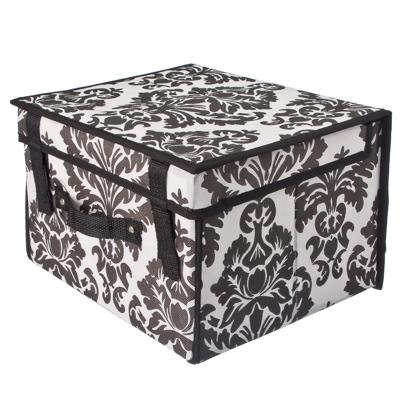 457-188 Орнамент Кофр-короб складной, жесткий с крышкой и ручкой, 30x27x20см, флизелин