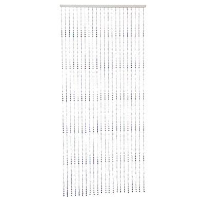 """491-217 Занавеска межкомнатная, пластик, 80x180см, """"Гелла"""", перламутр, арт.НР-24"""