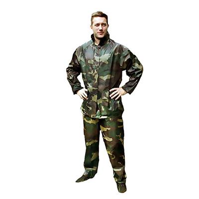 """457-203 INBLOOM Костюм прорезиненный """"Камуфляж"""" (штаны и куртка с капюшоном) XXXL,180 мкр."""