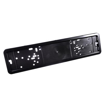 776-020 Держатель номера пластик+нерж.сталь, черная рамка (1 шт)